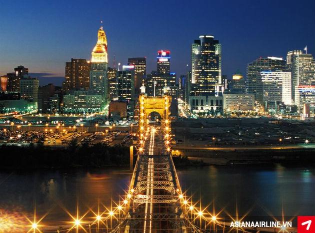 Vé máy bay đi Cincinnati, Mỹ giá rẻ
