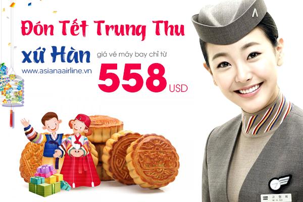 Mua vé máy bay Asiana Airlines đi Hàn Quốc