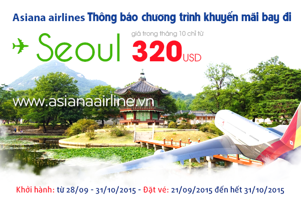 Từng bừng khuyến mãi, bay đến Seoul chỉ từ 320 USD