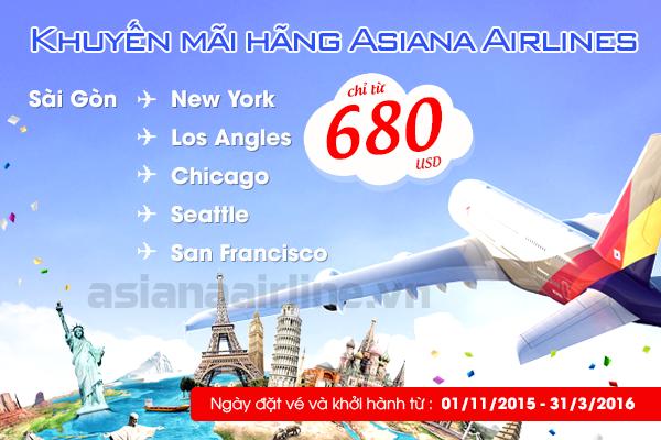 Asiana Airlines rộn ràng khuyến mãi đến các thành phố Mỹ