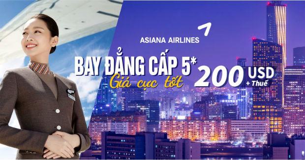Bay OZ730 nhận ngay khuyến mãi Hà Nội đi Seoul khứ hồi từ 200 USD