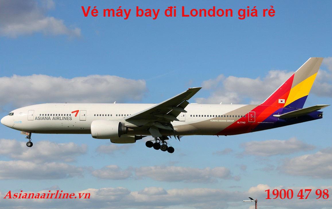Vé máy bay giá rẻ đi London