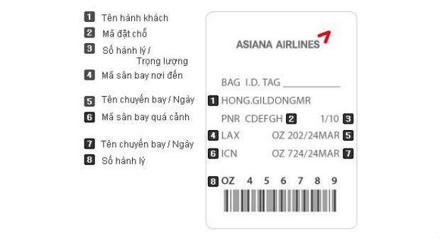 Đi máy bay Asiana Airlines không được mang gì