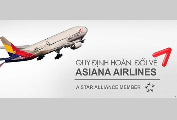 Quy định đổi vé máy bay Asiana Airlines