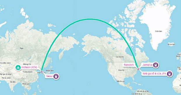 Từ Hàn Quốc đến Mỹ mất bao lâu?