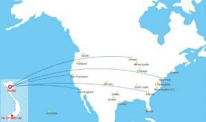 Đi máy bay từ Hàn Quốc đến Mỹ mất bao lâu?