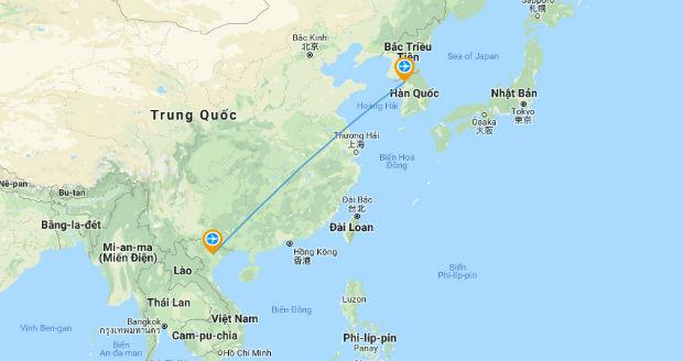 Thời gian từ Hàn Quốc bay về Việt Nam bao nhiêu tiếng?