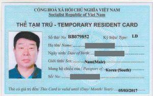 Điều kiện cấp thẻ tạm trú cho người nước ngoài