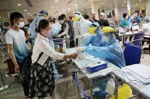 Chuyến bay charter từ Hàn Quốc về Việt Nam