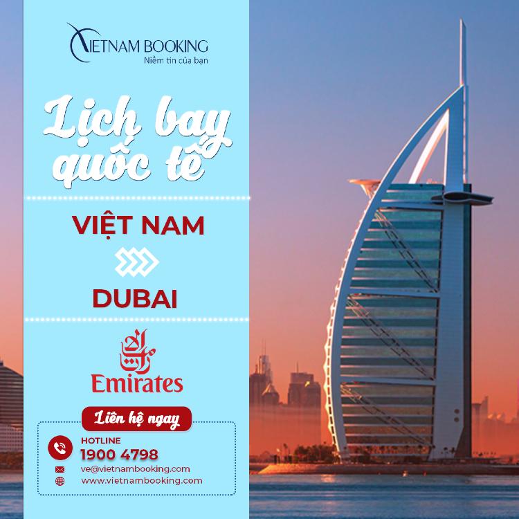 vé máy bay từ Việt Nam đi Dubai