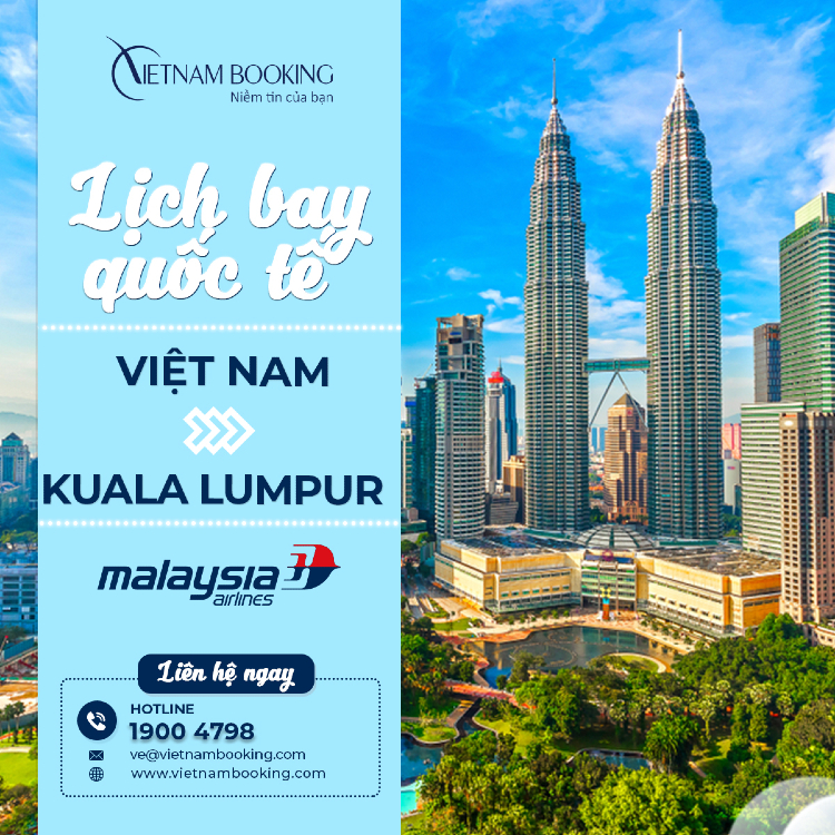 chuyến bay từ Việt Nam đi Malaysia