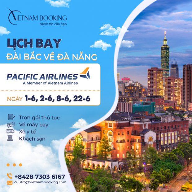Vé máy bay từ Đài Bắc về Đà Nẵng mới nhất