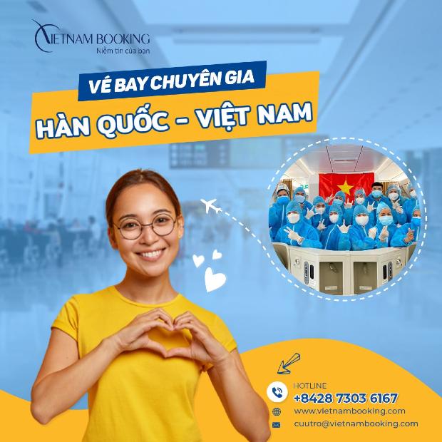 vé máy bay cho chuyên gia nước ngoài từ Hàn Quốc về Việt Nam