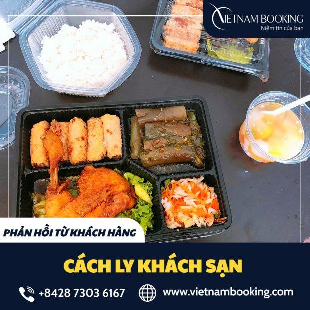 Bữa ăn chất lượng của hành khách đang cách ly tại khách sạn