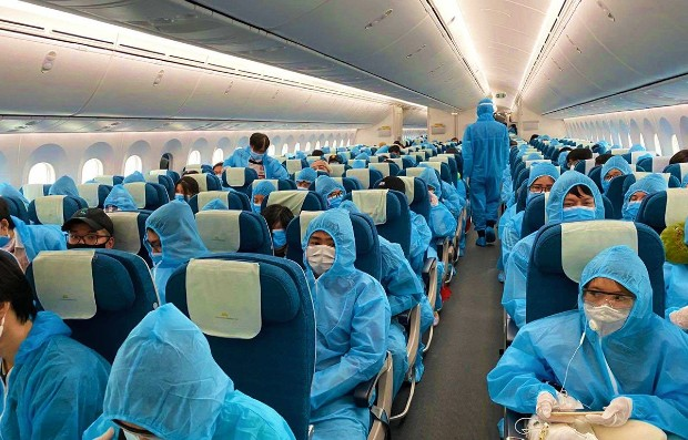 Chuyến bay chuyên gia từ Đài Loan về Hà Nội