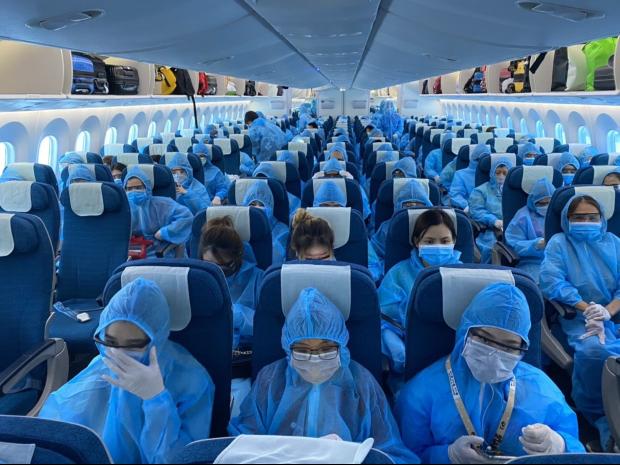 Hành khách trên chyến bay sẽ phải cách ly khi nhập cảnh Việt Nam