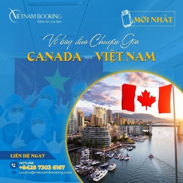 Chuyến bay chuyên gia từ Vancouver về Sài Gòn