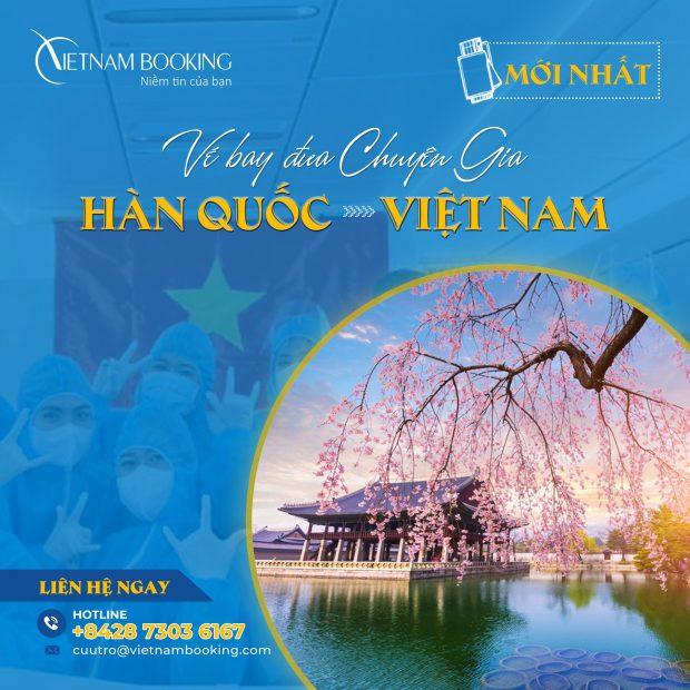 Chuyến bay chuyên gia từ Seoul về Hà Nội