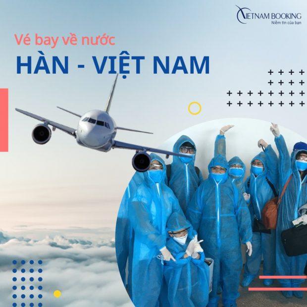 Vé máy bay từ Seoul về Đà Nẵng đưa người Việt hồi hương trong mùa dịch này