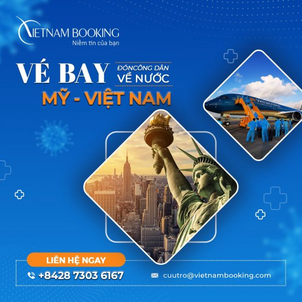 Vé máy bay từ Washington về Sài Gòn đưa người Việt hồi hương