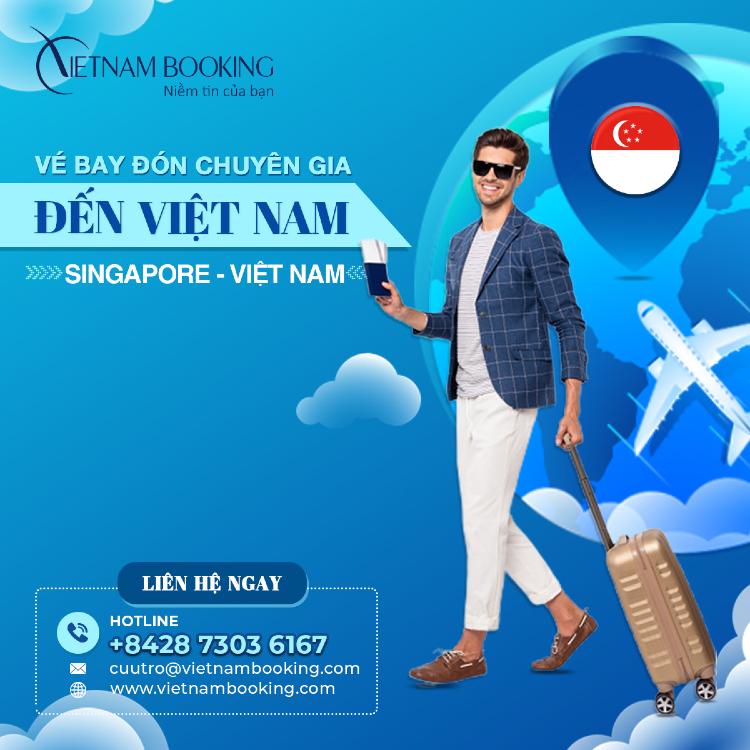 Chuyến bay đón chuyên gia từ Singapore về Việt Nam
