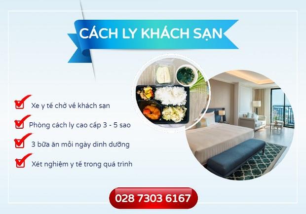 Dịch vụ cách ly tại khách sạn khi hành khách về Việt Nam
