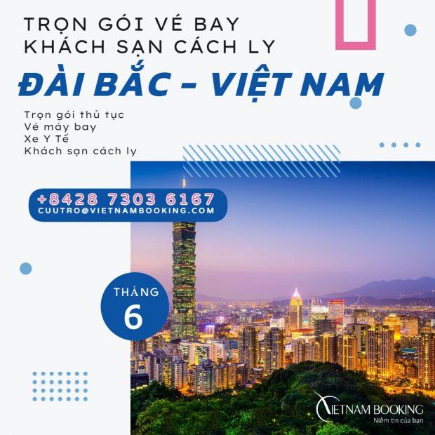Trọn gói khách sạn cách ly cho hành khách từ Đài Bắc về Hà Nội
