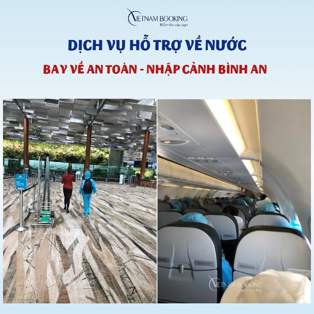 Vietnam Booking hỗ trợ hành khách trọn gói dịch vụ về nước an toàn