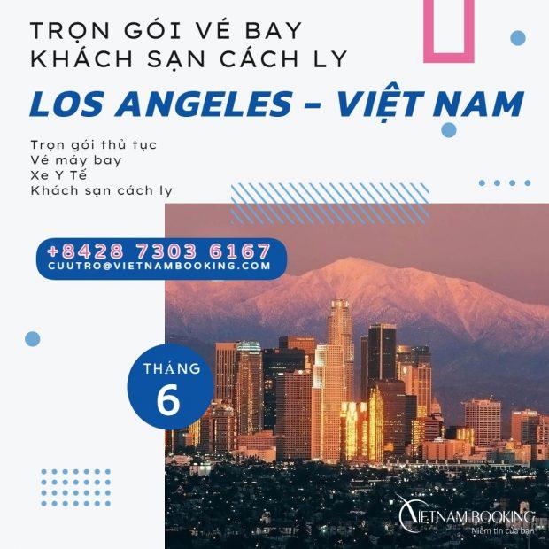 Trọn gói cách ly khách sạn khi từ Los Angeles về Đà Nẵng
