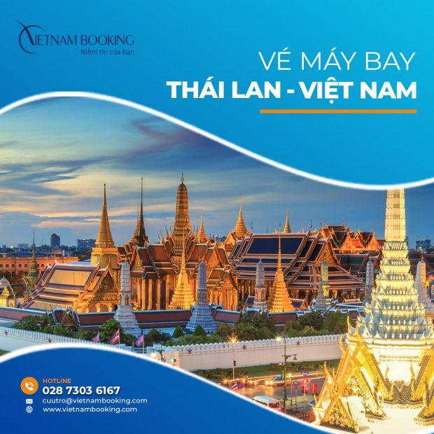 Vé máy bay từ Thái Lan về Việt Nam   Cập nhật lịch bay mới nhất
