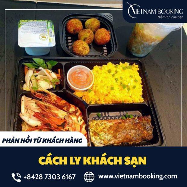 Thực đơn món ăn hàng ngày của hành khách cách ly tại khách sạn