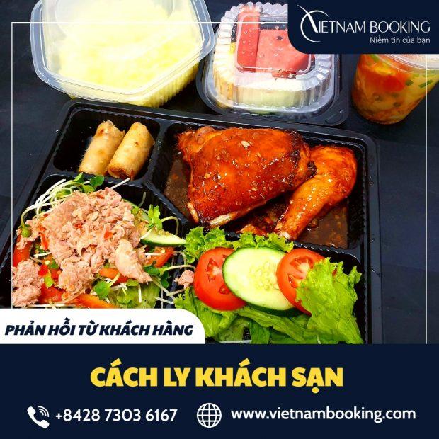 Bữa ăn dinh dưỡng dành cho hành khách tại khách sạn cách ly