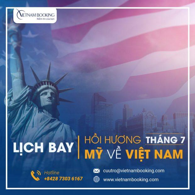 Vé máy bay từ Mỹ về Việt Nam | Cập nhật lịch bay mới nhất